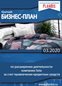 Краткий бизнес-план по расширению деятельности компании Seta за счет привлечения кредитных средств